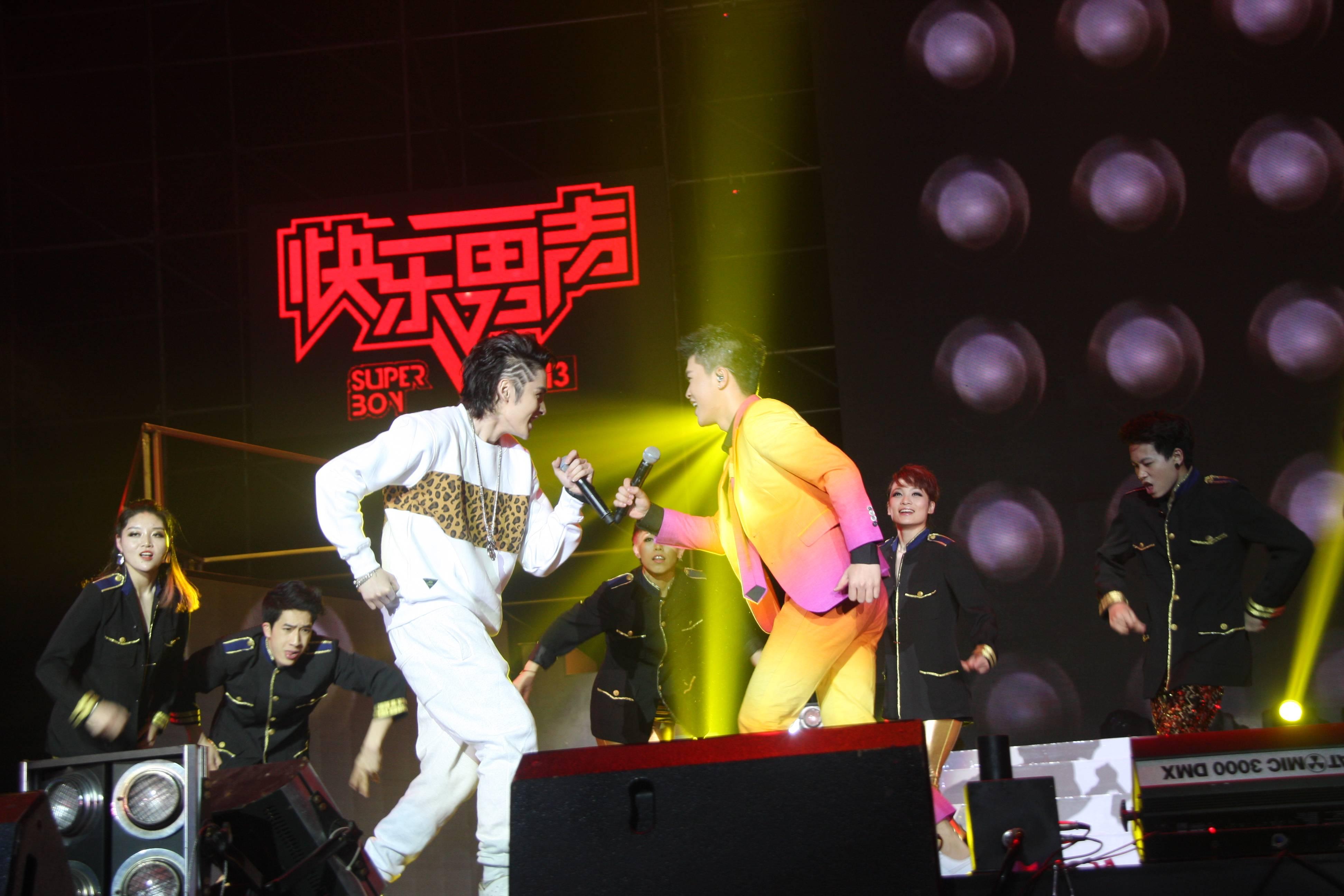 3月15日,2013快乐男声全国巡回演唱会杭州站在杭州黄龙体